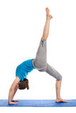 Yoga - young beautiful woman doing yoga asana excerise isolated Royalty Free Stock Photography