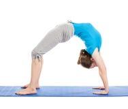 Yoga - young beautiful woman doing yoga asana excerise isolated Stock Photos