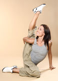 Yoga. Young girl goes in for sports. Stock Photo