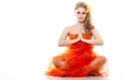 yoga young woman Stock Photos