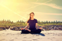 Yoga. Royalty Free Stock Images