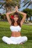Yoga-Zeit Lizenzfreie Stockfotografie