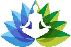 Yoga zen embleem Stock Foto's