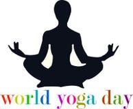 Yoga zen embleem Royalty-vrije Stock Foto's