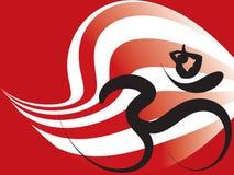 Yoga-Zenohmkalligraphie-Verzerrungstreifen Lizenzfreie Stockbilder