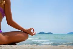Yogaachtergrond royalty-vrije stock afbeelding