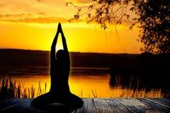 Yogaachtergrond Royalty-vrije Stock Fotografie