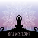 Yogaachtergrond Royalty-vrije Stock Afbeeldingen