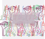 Yogaachtergrond Stock Afbeelding