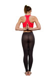 Yogaasanaposition Fotografering för Bildbyråer
