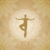 Yogabakgrund Royaltyfri Foto
