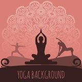 Yogabakgrund Fotografering för Bildbyråer