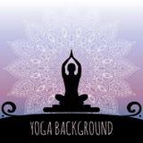 Yogabakgrund Royaltyfria Bilder