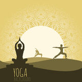 Yogabakgrund Royaltyfria Foton