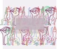 Yogabakgrund stock illustrationer