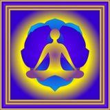 Yogaelement en bloem van lotos Royalty-vrije Stock Afbeeldingen