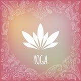 Yogaembleem royalty-vrije stock afbeelding