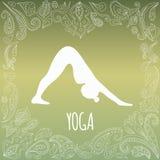 Yogaembleem stock afbeelding