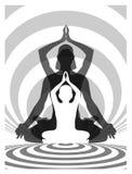 Yogafamilie Stock Afbeeldingen