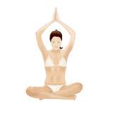 Yogaflicka royaltyfri illustrationer