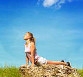Yogafrau Lizenzfreie Stockbilder