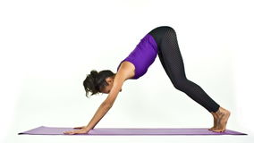 Yogafrau stock video