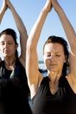 Yogafrauen Lizenzfreie Stockfotos