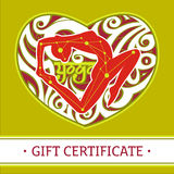 Yogagåva certificate_2 Royaltyfri Foto