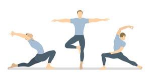 Yogagenomkörareuppsättning vektor illustrationer