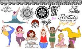 Yogagewichtsgrenze Stockfoto