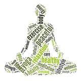 Yogagraphiken Lizenzfreie Stockfotos