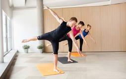 Yogagrupp fotografering för bildbyråer