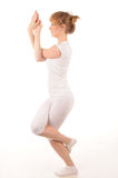 Yogahaltung lizenzfreie stockfotografie