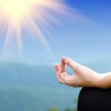 Yogahaltung Lizenzfreies Stockfoto