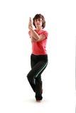 Yogahaltung. Garudasana. Stockfoto