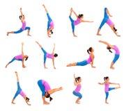Yogahaltungen lizenzfreie stockfotos