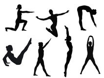 Yogahaltungen Stockfoto