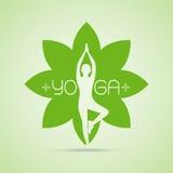 Yogahaltungen im Herzen mit der Umarmungshand Stockfotografie