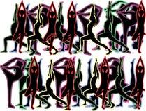 Yogahintergrund Lizenzfreie Stockbilder