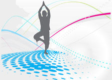 Yogahintergrund Stockfotografie