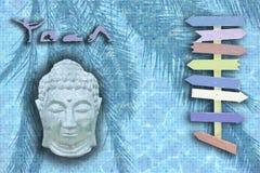 Yogahintergrunddesign mit acht Pfeilen Lizenzfreies Stockfoto