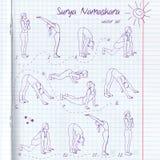 Yogaillustration Surya-namaskara ENV, JPG Lizenzfreie Stockfotos