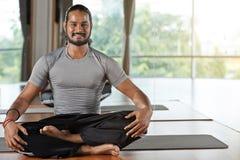 Yogainstructeur stock fotografie