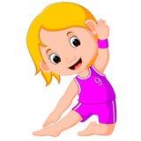 Yogajonge geitjes Gymnastiek- voor kinderen en gezonde levensstijl royalty-vrije illustratie