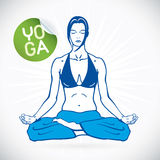 Yogakonditionmodell Illustration vektor illustrationer
