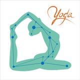 Yogakonstellation Arkivfoton