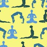 Yogakonturbakgrund Royaltyfri Fotografi