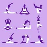 Yogakonturer Fotografering för Bildbyråer