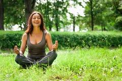 Yogakvinna Arkivbilder