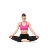 Yogakvinnan Arkivfoto